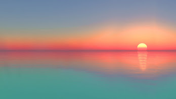 Calm, Sea, Sunset, Horizon, Scenery, 4K, #6.931