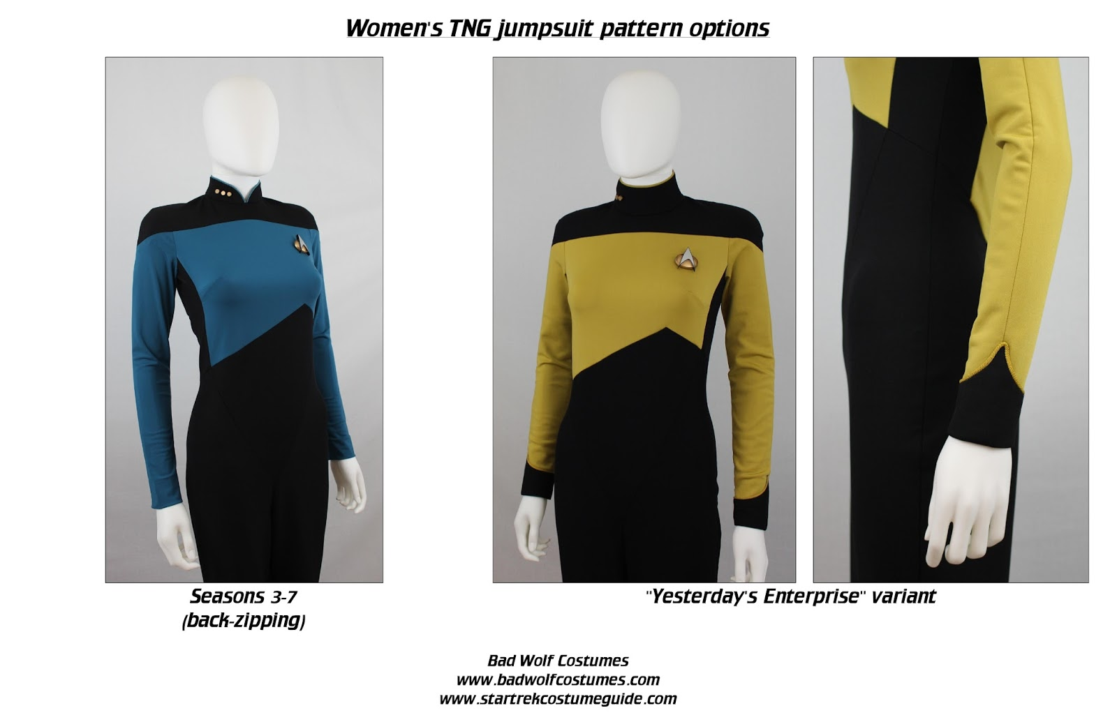 Bad wolf costumes star trek tng women 39 s jumpsuit sewing for Uniform spaces pdf