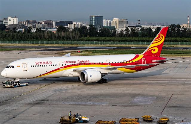 boeing 787-9 dreamliner hainan airlines