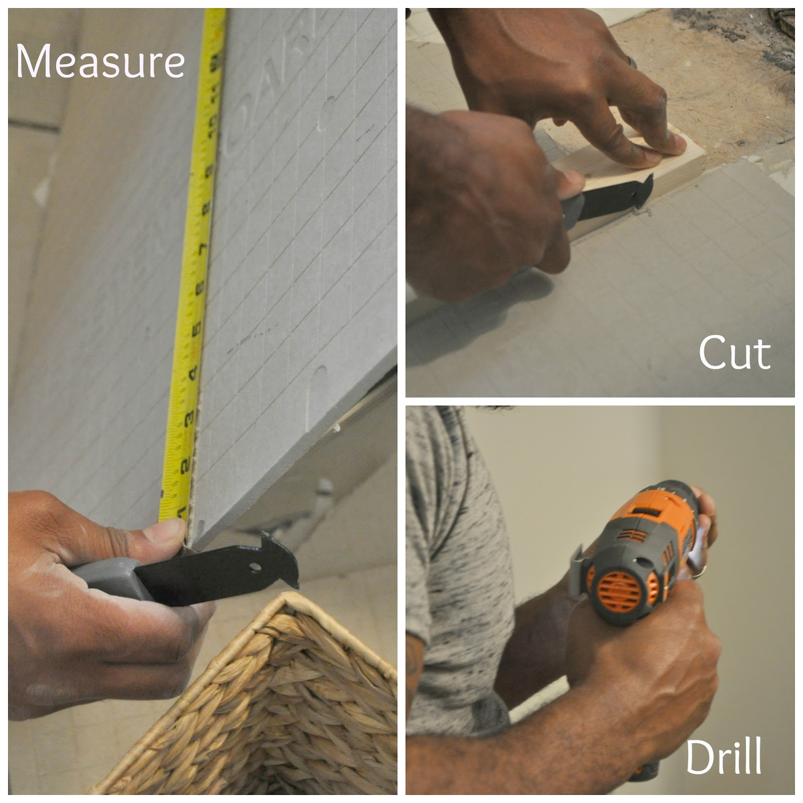 Guest Bathroom Update 3 How To Install Backer Board And Mosaic
