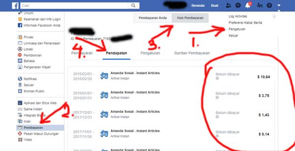 tab penghasilan live facebook pribadi