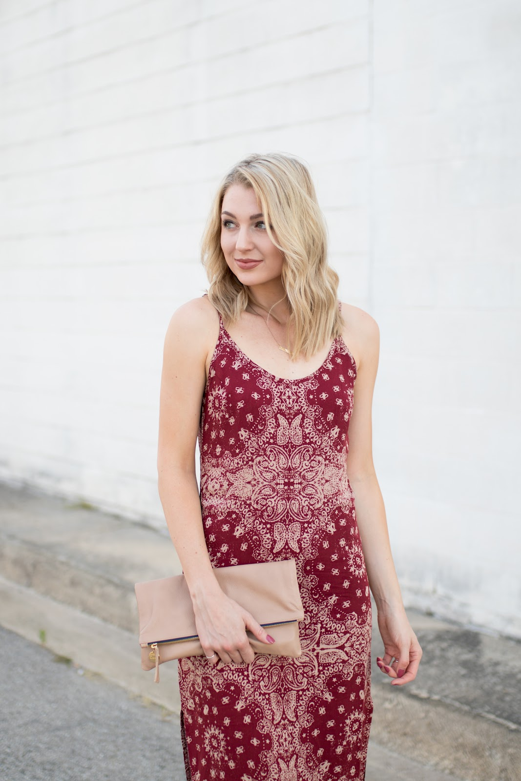 Burgundy sundress