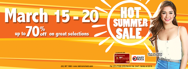 How to Get Your Own Robinsons Malls VIP Card, Robinsons Hot Summer Sale 2016, Robinsons Malls Privilege Discount Card Promo