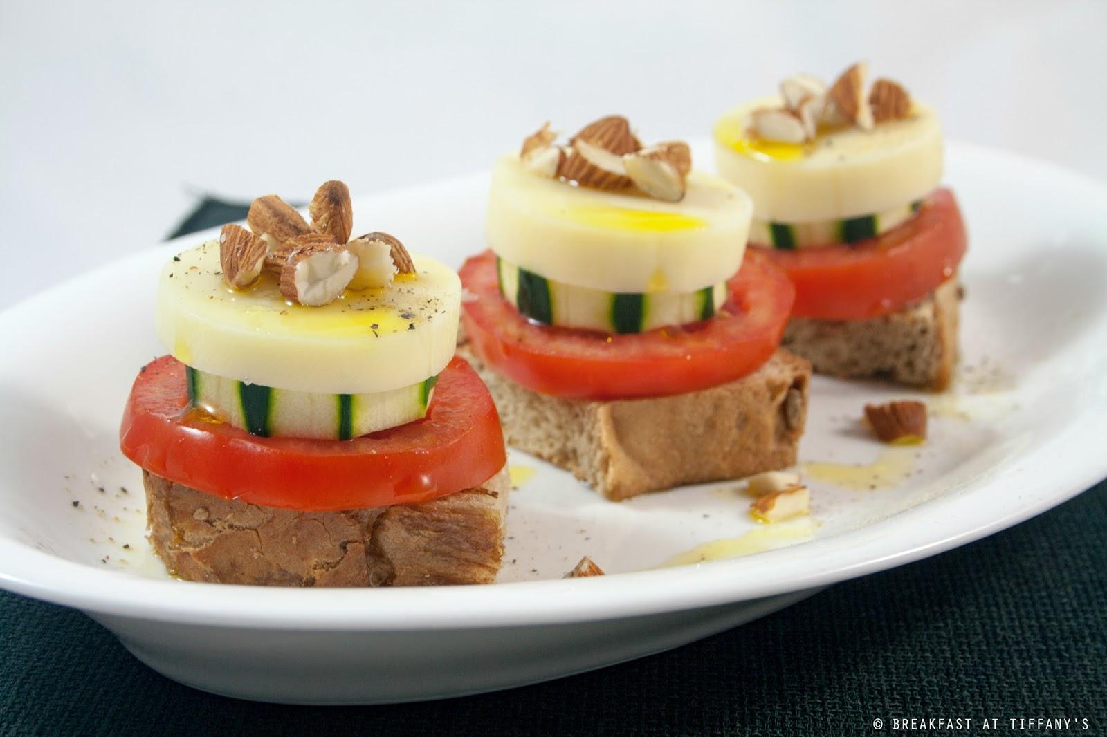 Torrette light con pomodoro formaggio cetriolo e for Cetriolo tondo