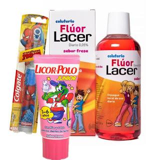 kit de higiene dental del niño de los 3 a los 6 años