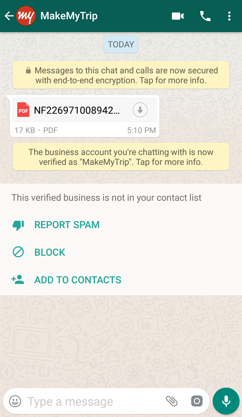 my first whatsapp business message