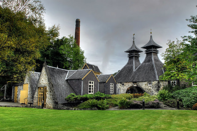 A picture of the Strathisla distillery the oldest and most picturesque distillery in the highlands of Scotland