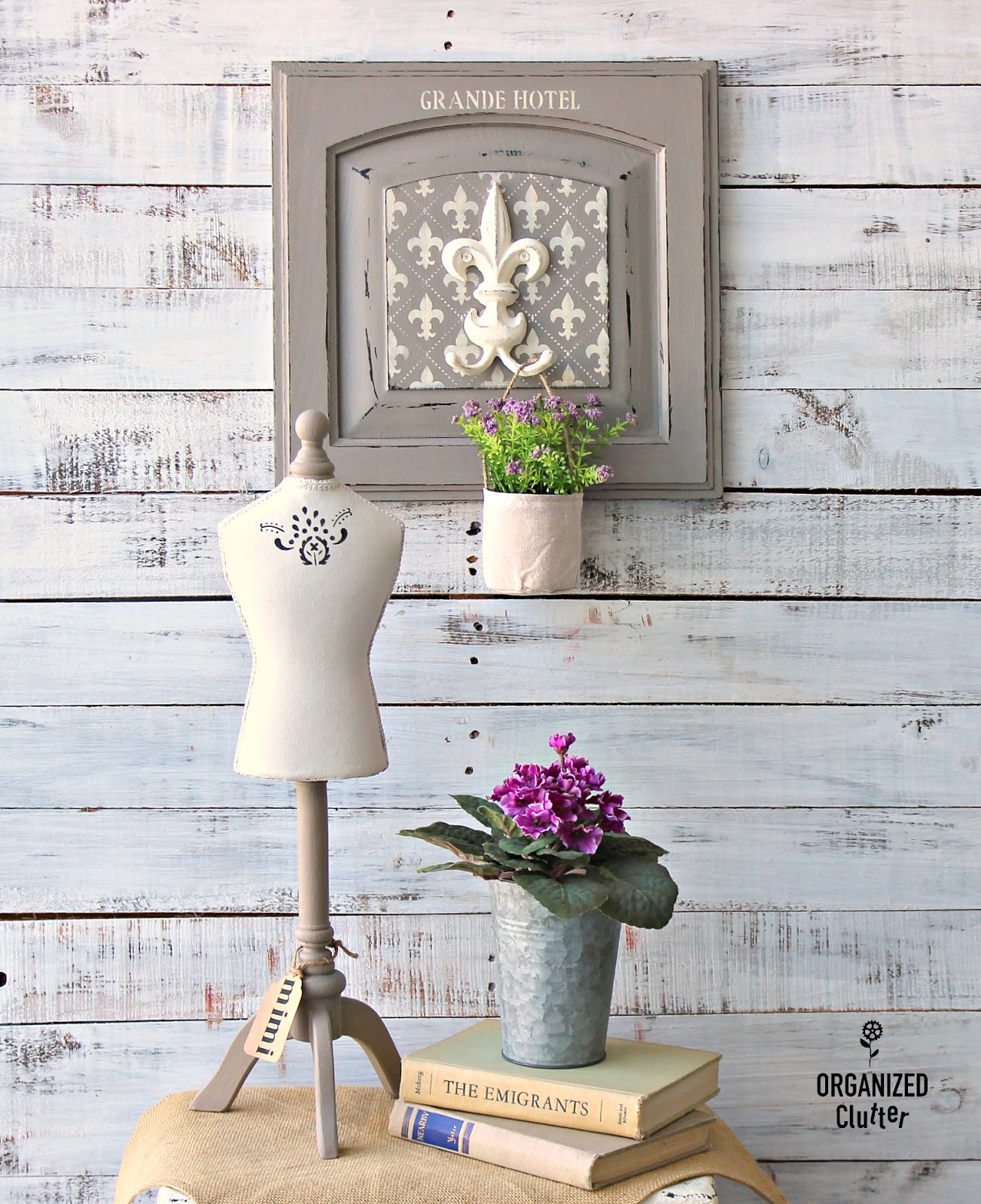Farmhouse Style Cabinet Door Repurpose Organized Clutter