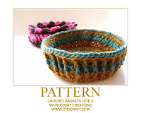 how to crochet, baskets, jute bowls, decorative, free crochet patterns,