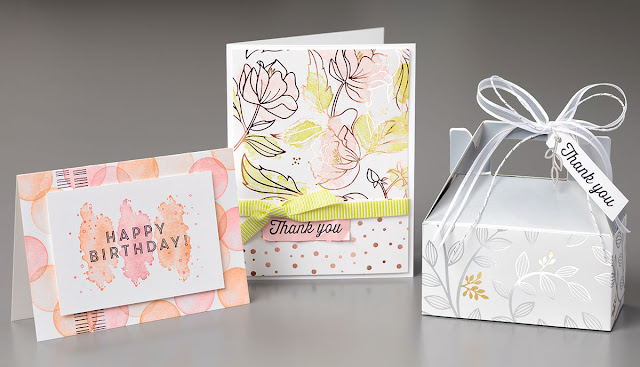 See the Eclectic Expressions Stamp Set paired with the Springtime Foil DSP