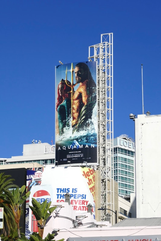 Aquaman movie billboard