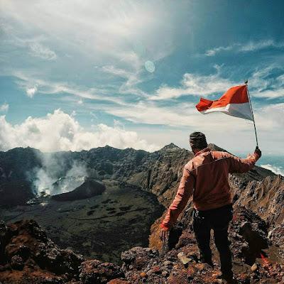 foto puncak sejati gunung raung