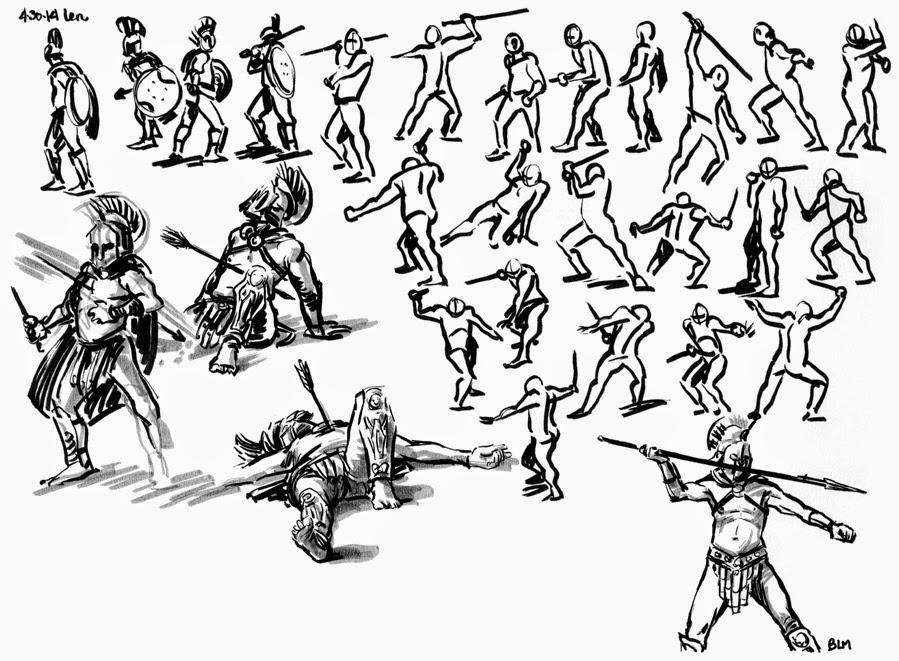 Drawn Warrior Sparta