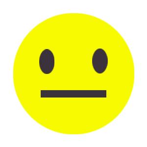 Flat yellow smiley