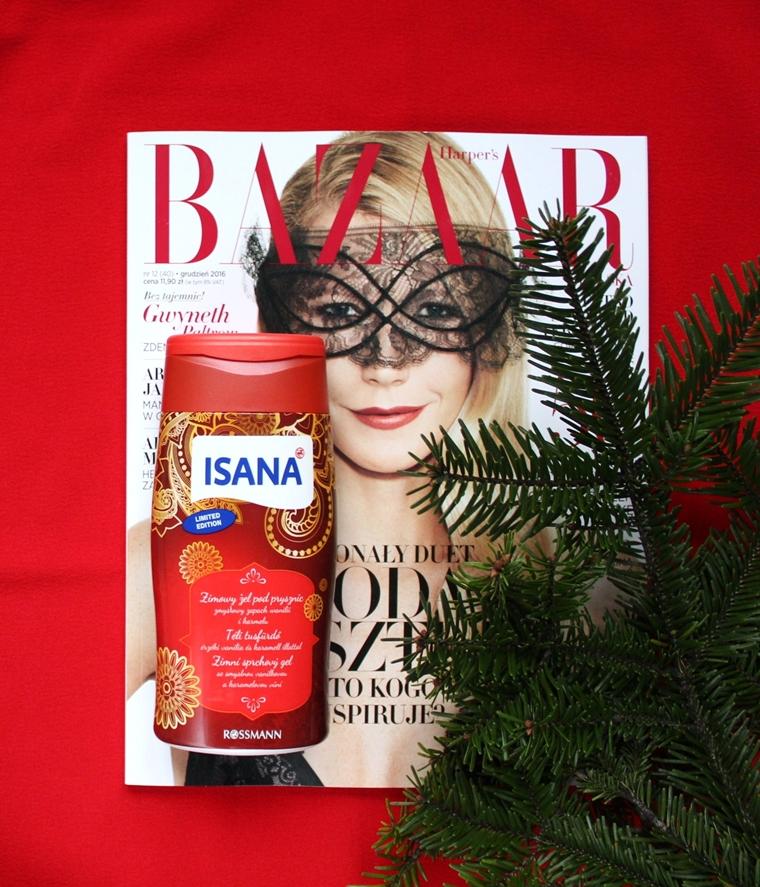 Kosmetyki o świątecznym zapachu, które musisz mieć - zimowy żel pod prysznic Isana Wanilia & Karmel