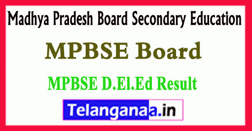 MPBSE Madhya Pradesh Board Secondary Education D.El.Ed 1st 2nd Year Result