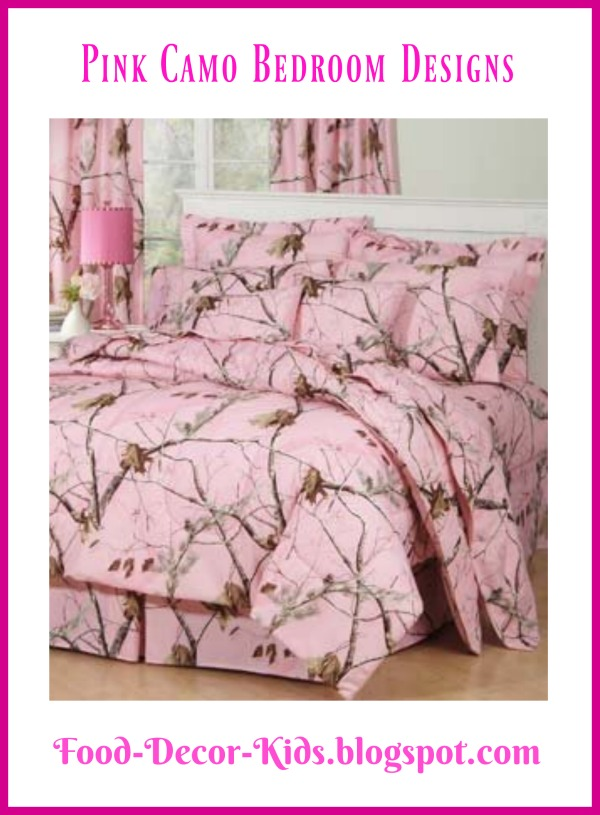 Food decor kids pink camo bedroom designs for Camo kids bedroom ideas