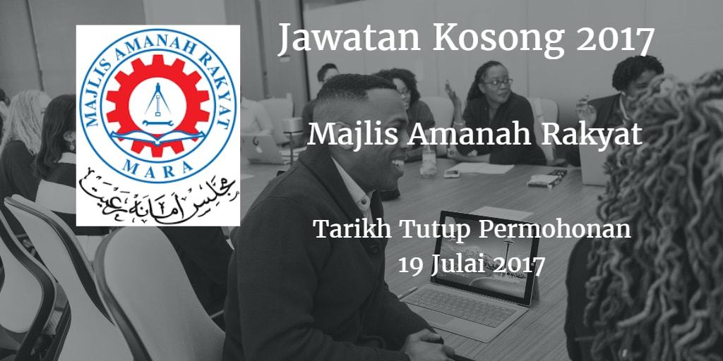 Jawatan Kosong MARA 19 Julai 2017