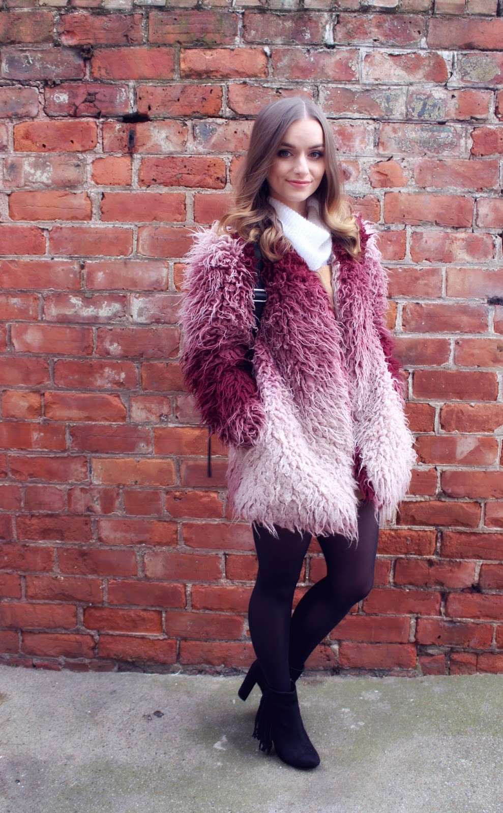 MinkPink Shaggy Coat