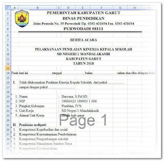 Aplikasi Cetak PKKS ( Penilaian Kinerja Kepala Sekolah )