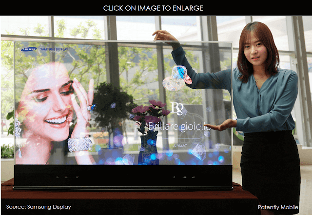 Samsung's Oled Transparent display