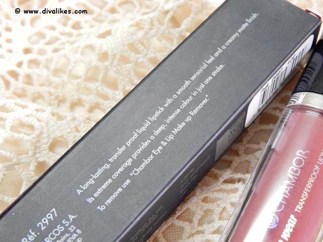 Chambor Extreme Wear Transferproof Liquid Lipstick