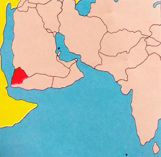 Gambar Peta letak Negara Yaman Utara