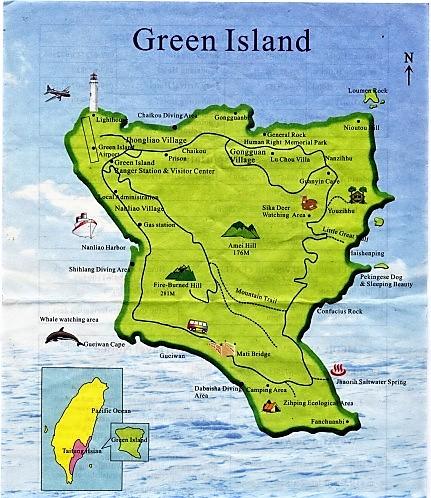 green island taiwan map