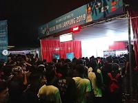 Pengunjung Lampung Fair 2019 Membludak Malam Ini