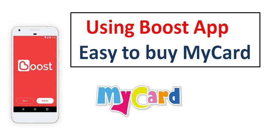 MyCard Malaysia: Boost App购买MyCard教学(How to purchase MyCard