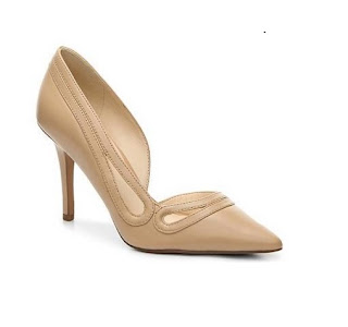 nine west nude dorsay pointed toe pumps