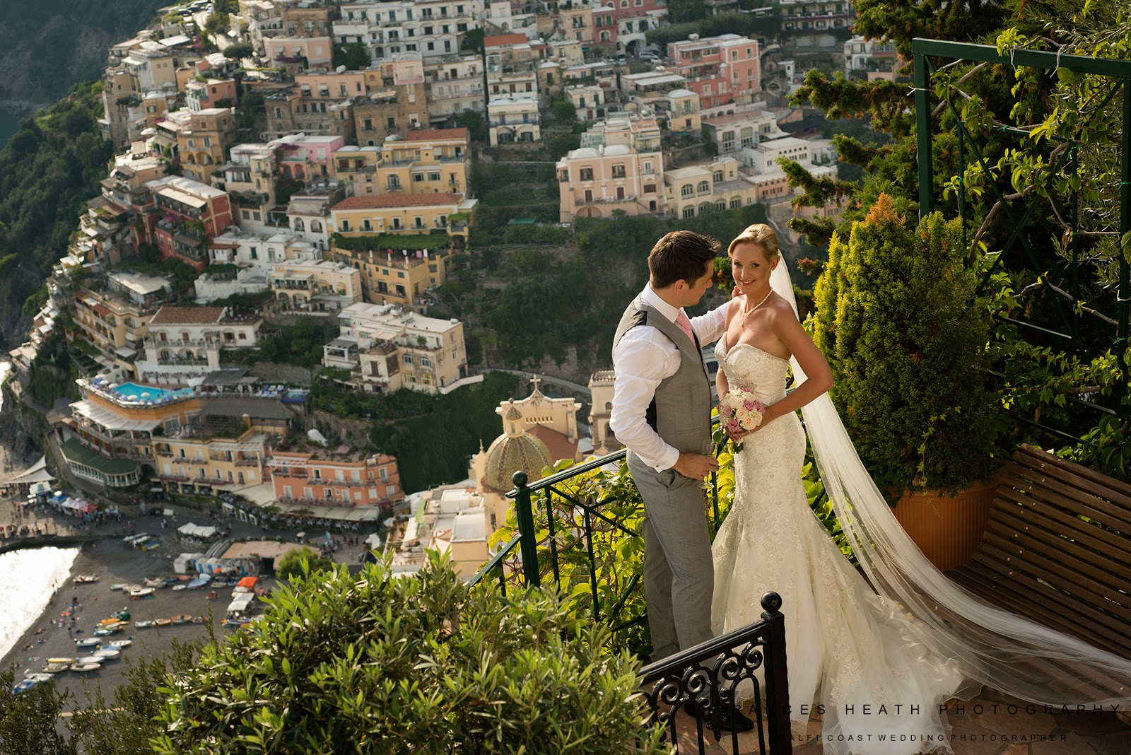 Elegant wedding celebration at Villa Oliviero in Positano