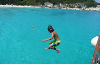 Playa de Voutoumi o Voutomi, costa este de la Isla de Antipaxos.