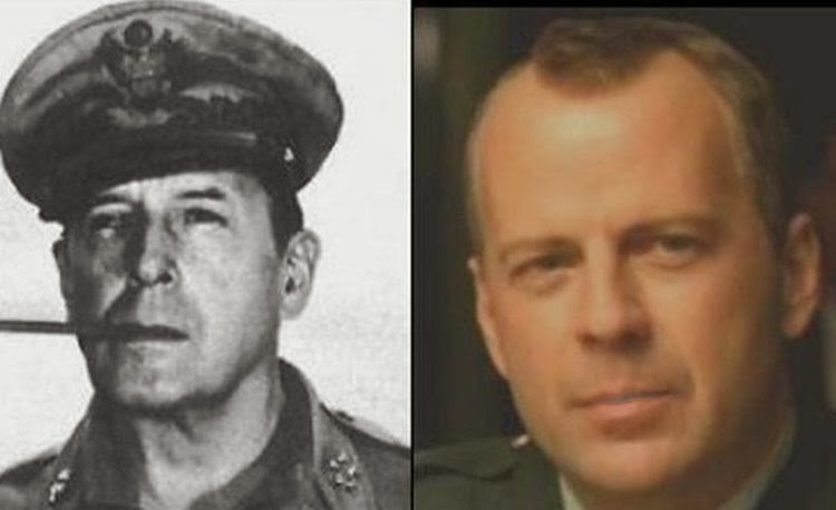 Bruce Willis dhe Gjenerali i Luftës së Dytë Botërore Douglas MacArthur