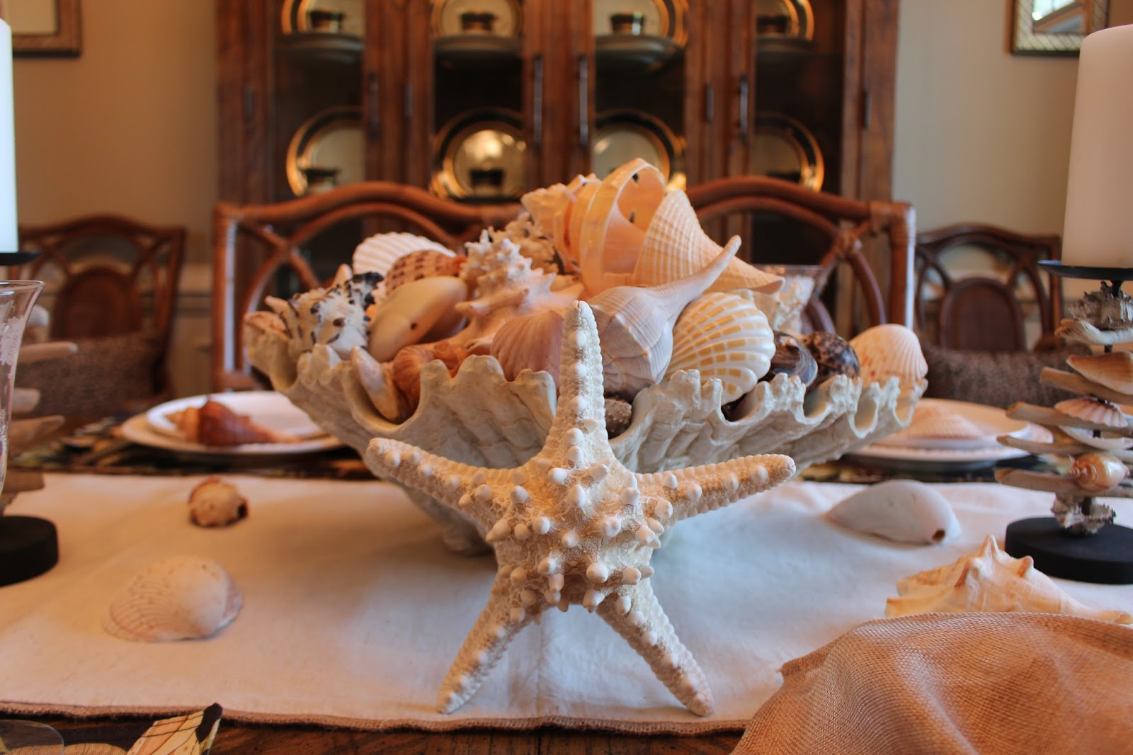 Shell Designs Designs By Pinky A Summer Table With Shells