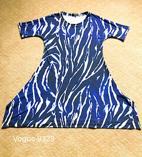 Vogue 9329 Dress Pattern Review on Sharon Sews sewing blog