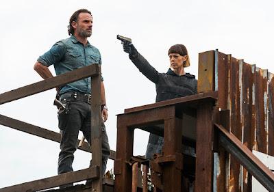 Rick Grimes (Andrew Lincoln) e Jadis (Pollyanna McIntosh) nell'episodio 16
