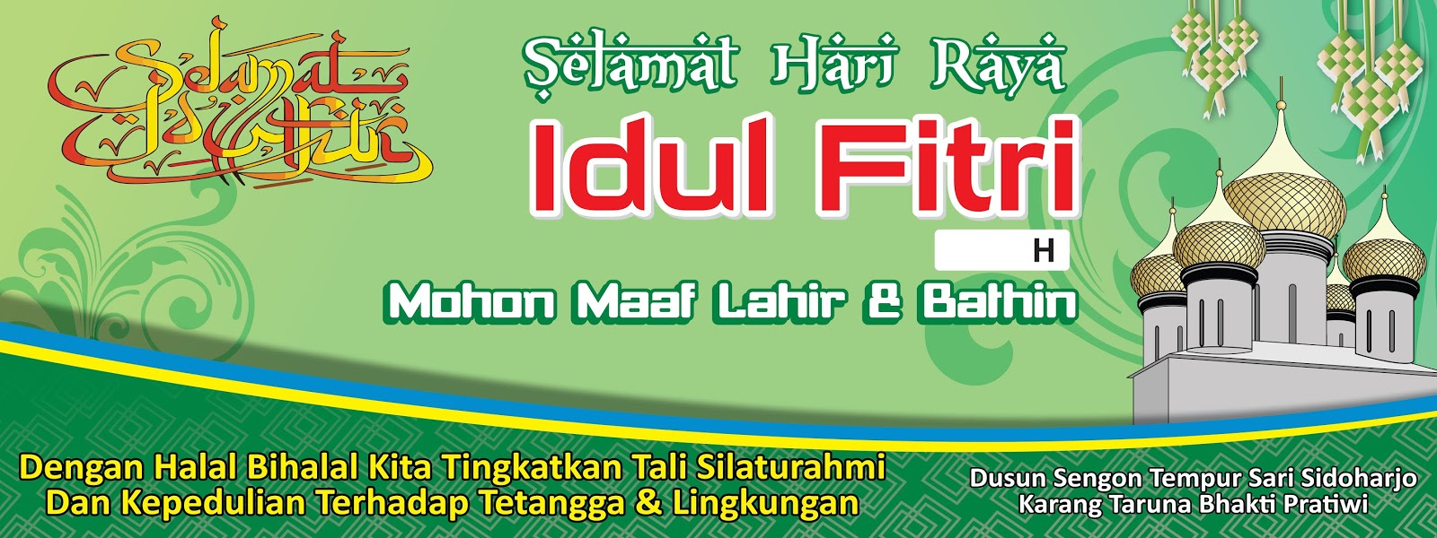 Background Halal Bihalal Idul Fitri Ala Model Kini