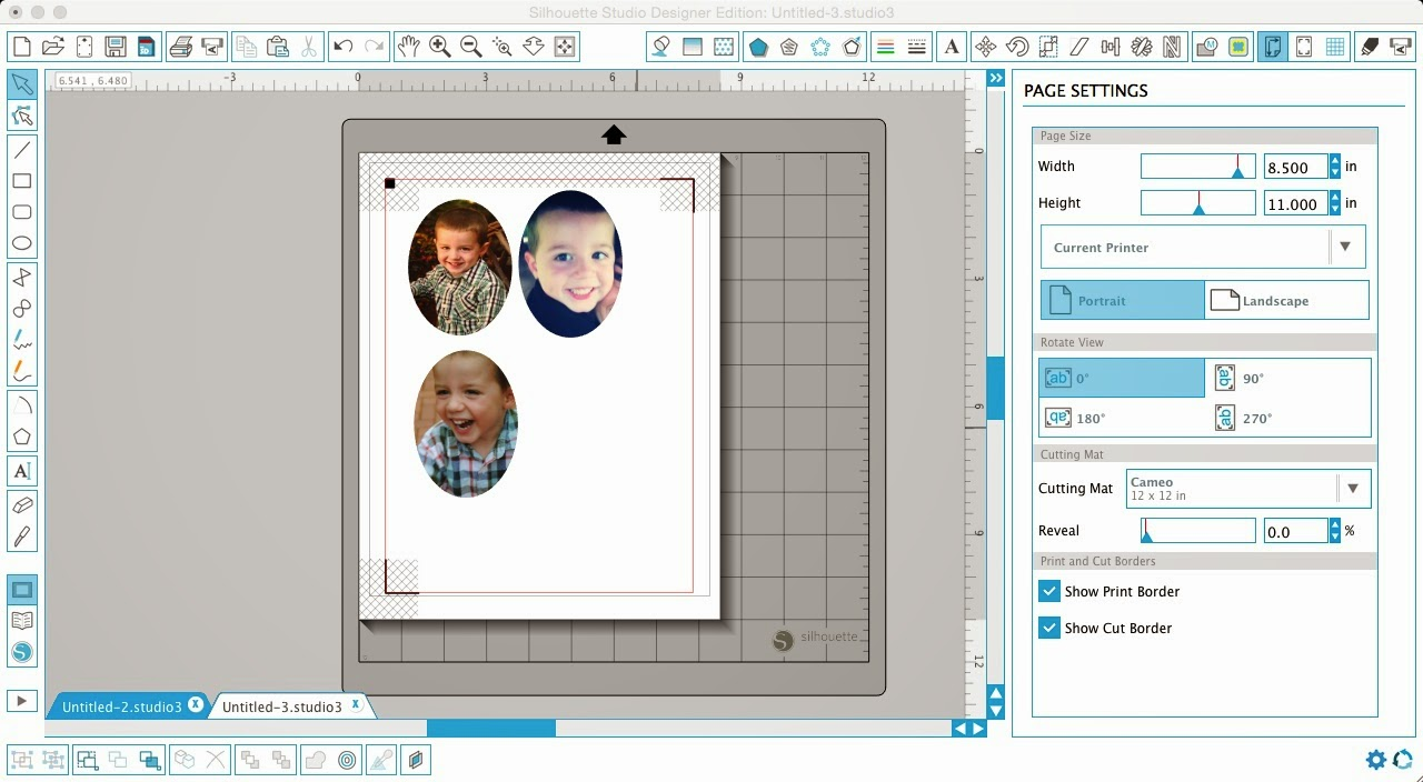 Silhouette tutorial, DIY, do it yourself, personalized, photo stickers, page settings, Silhouette Studio