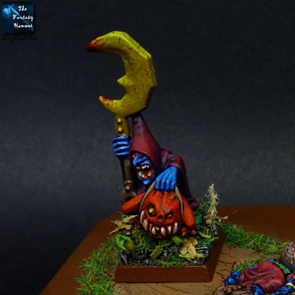 Night Goblins Shaman & Warboos Foot of Gork base