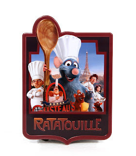 disney ratatouille epcot metal plaque sign