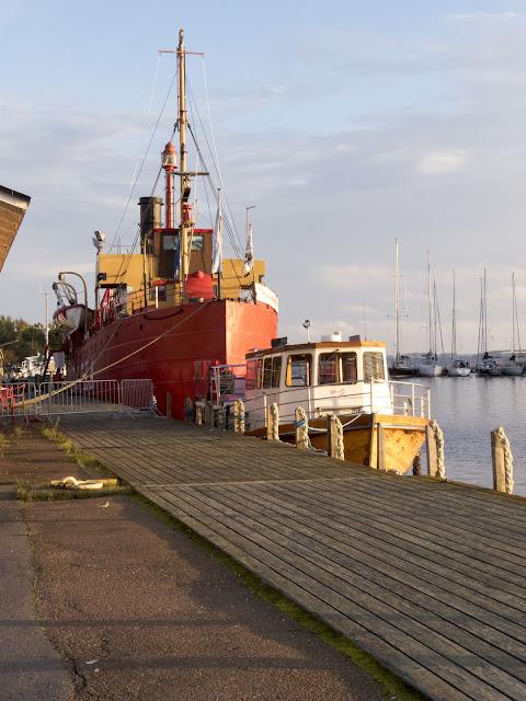 Finland road trip: Boats in Tervasaari in Hamina Finland