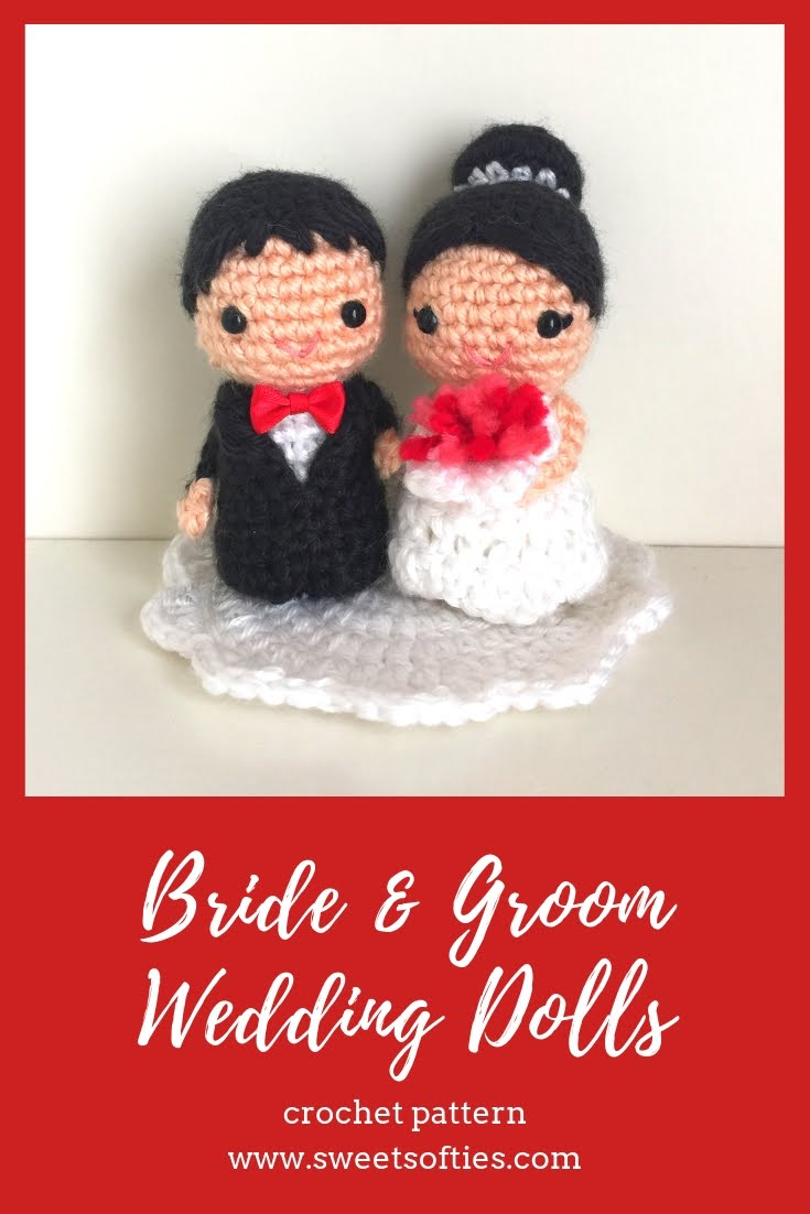 Tiny Wedding Cake Crochet Pattern ~ Crafty Kitty Crochet | 1102x735