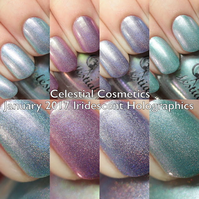 Celestial Cosmetics January 2017 Iridescent Holographics