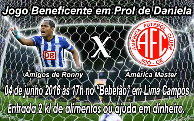 JOGO BENEFICENTE AMIGOS DO RONNY X AMÉRICA MASTER