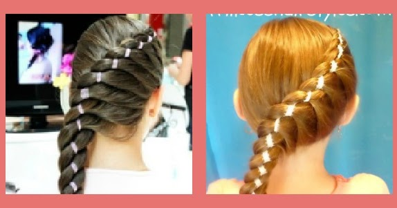 Diagonal Twist Braid With Ribbon Hairstyle Hairstyles