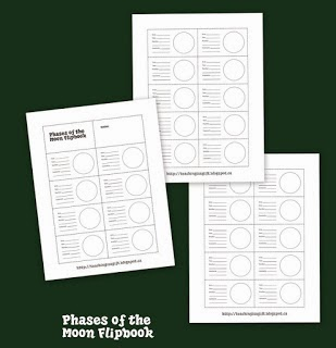 Picture of Phases of the Moon Flipbook by Teachingisagift.blogspot.ca