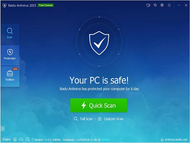 تحميل برنامج الحماية 5.4.3.148966 Baidu Antivirus مجانا