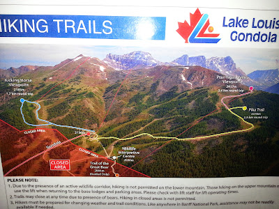 Lake Louise Sightseeing Gondola Hiking Trail Map