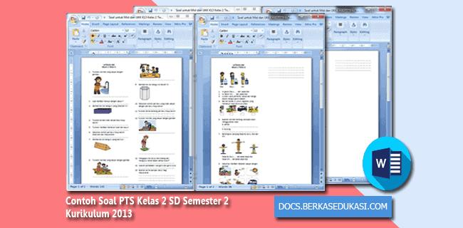 Contoh Soal PTS (UTS) Kelas 2 SD Semester 2 Kurikulum 2013